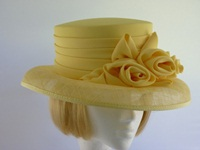Cappelli Condici Ascot hat Lemon Roses